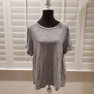 Old Navy Strip Ruffle Sleeve Tee